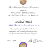 Antarctica Service Medal Certificate
