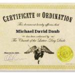 Dudeism Ordination Certificate