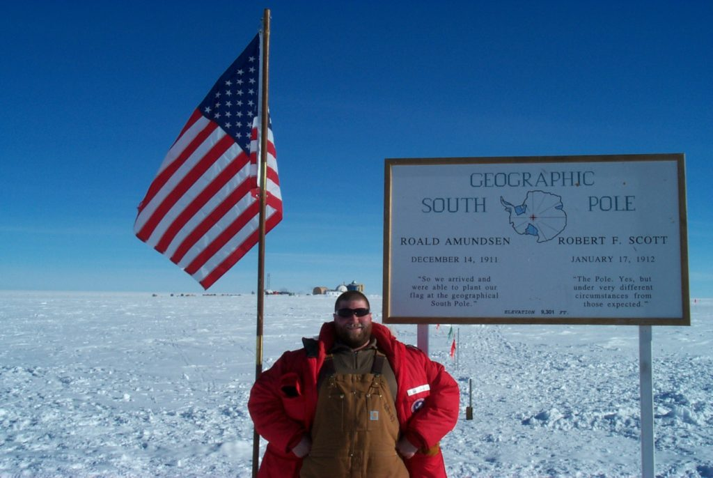 Mike at the South Pole